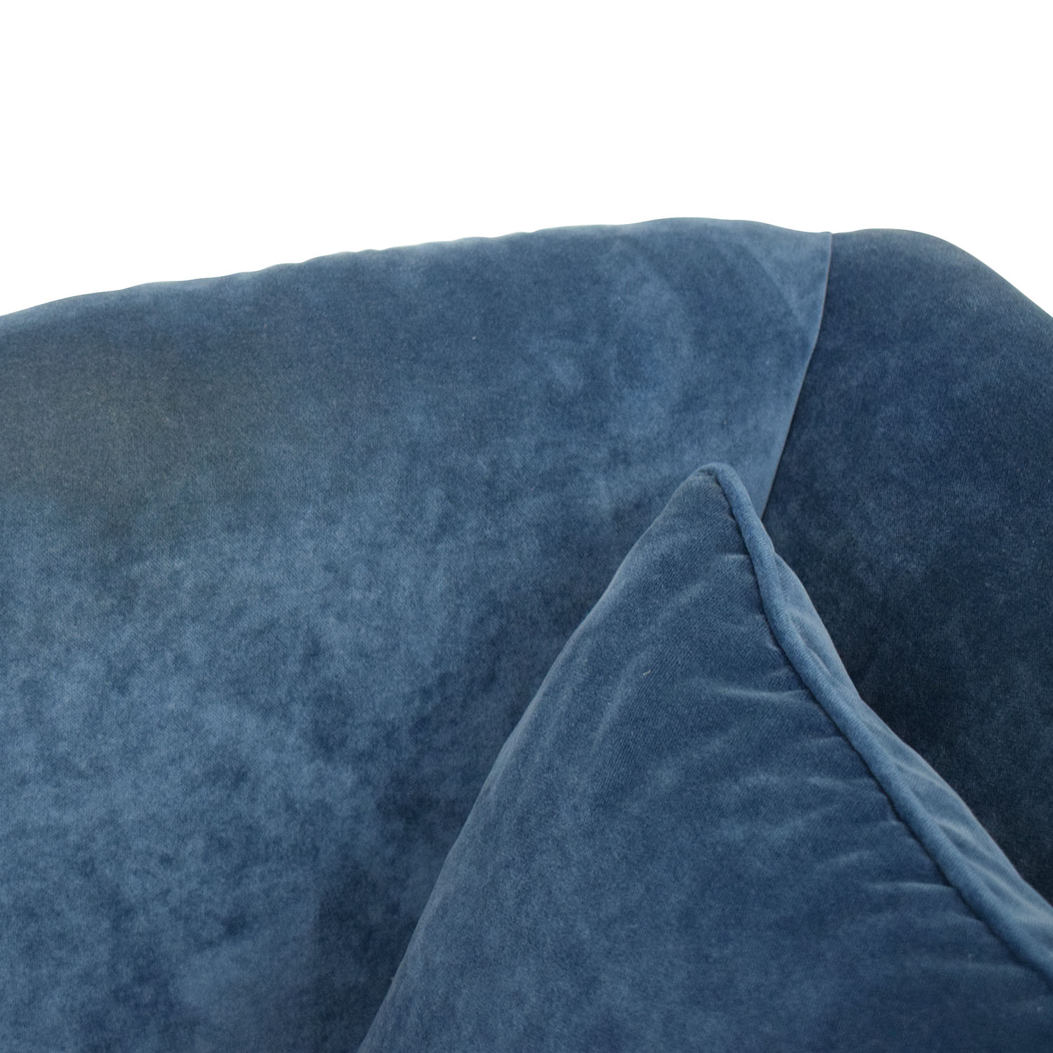 shop HomeGoods Blue Velvet Divan HomeGoods Sofas