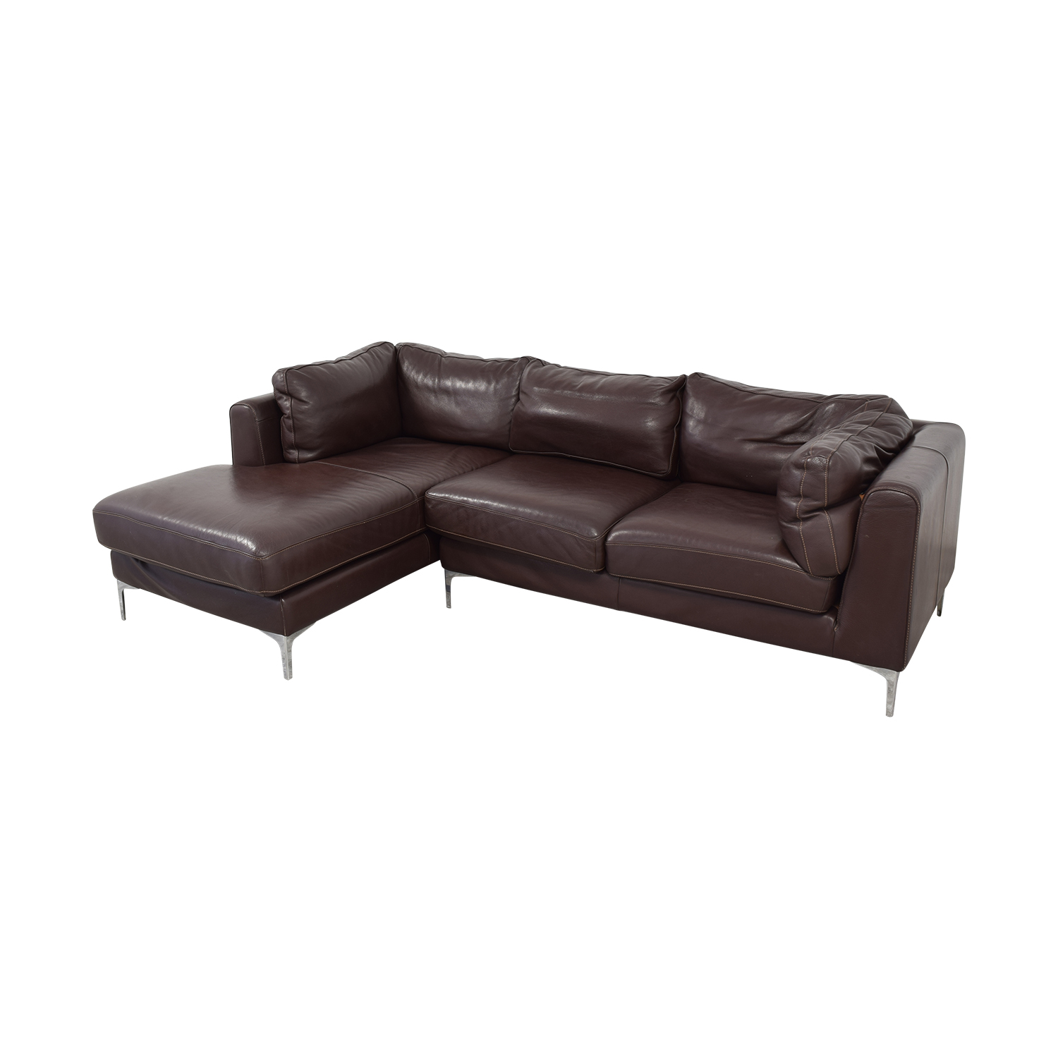 buy Design Within Reach Nicoletti Chaise Sectional Sofa Design Within Reach Sofas