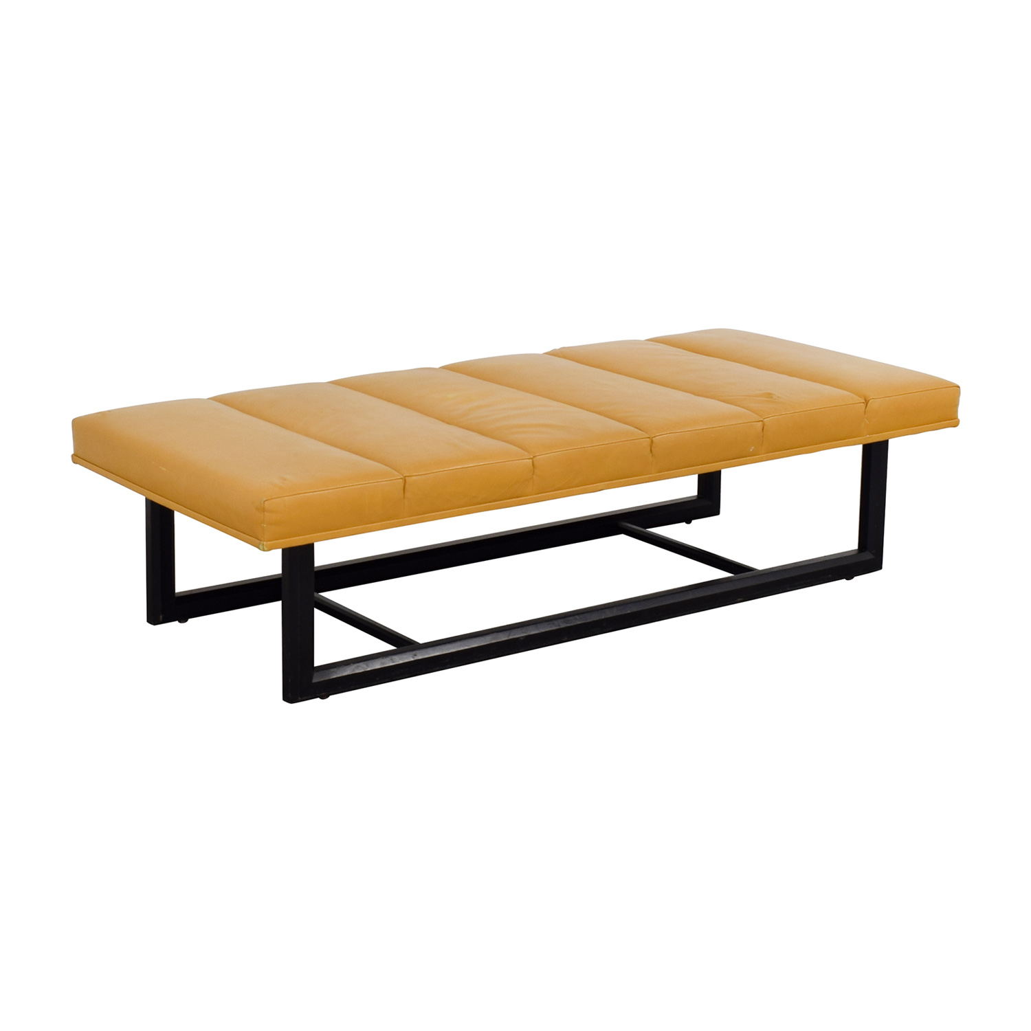 Bright Bright Leather Bench for sale