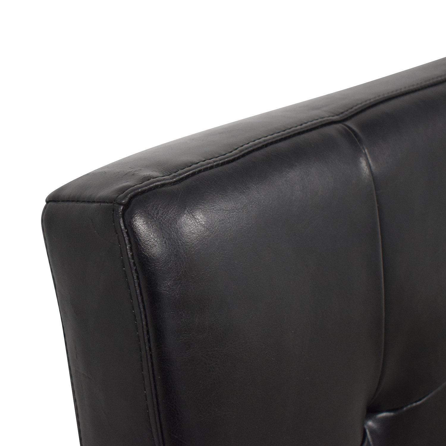 shop Pasha Tufted Black Leather Queen Headboard Pasha Beds