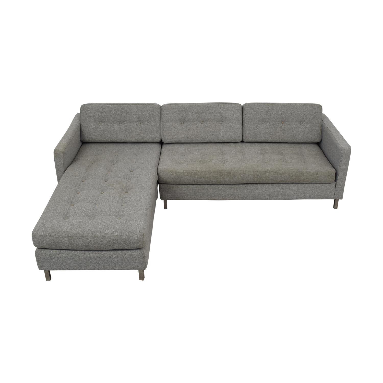 shop CB2 Ditto II Sectional Sofa CB2 Sofas