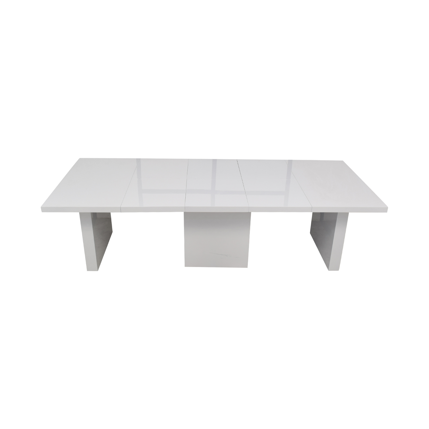 Orren Ellis Stotfold White Extendable Table / Dinner Tables