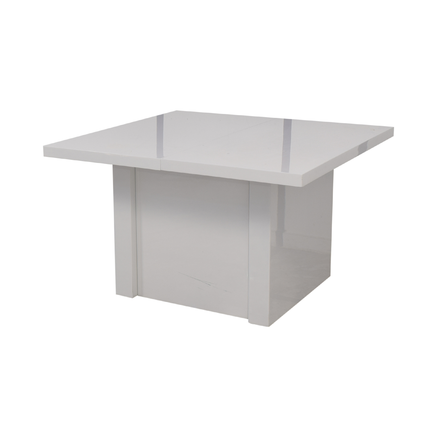 Orren Ellis Orren Ellis Stotfold White Extendable Table nj