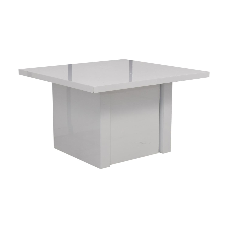 Orren Ellis Orren Ellis Stotfold White Extendable Table dimensions