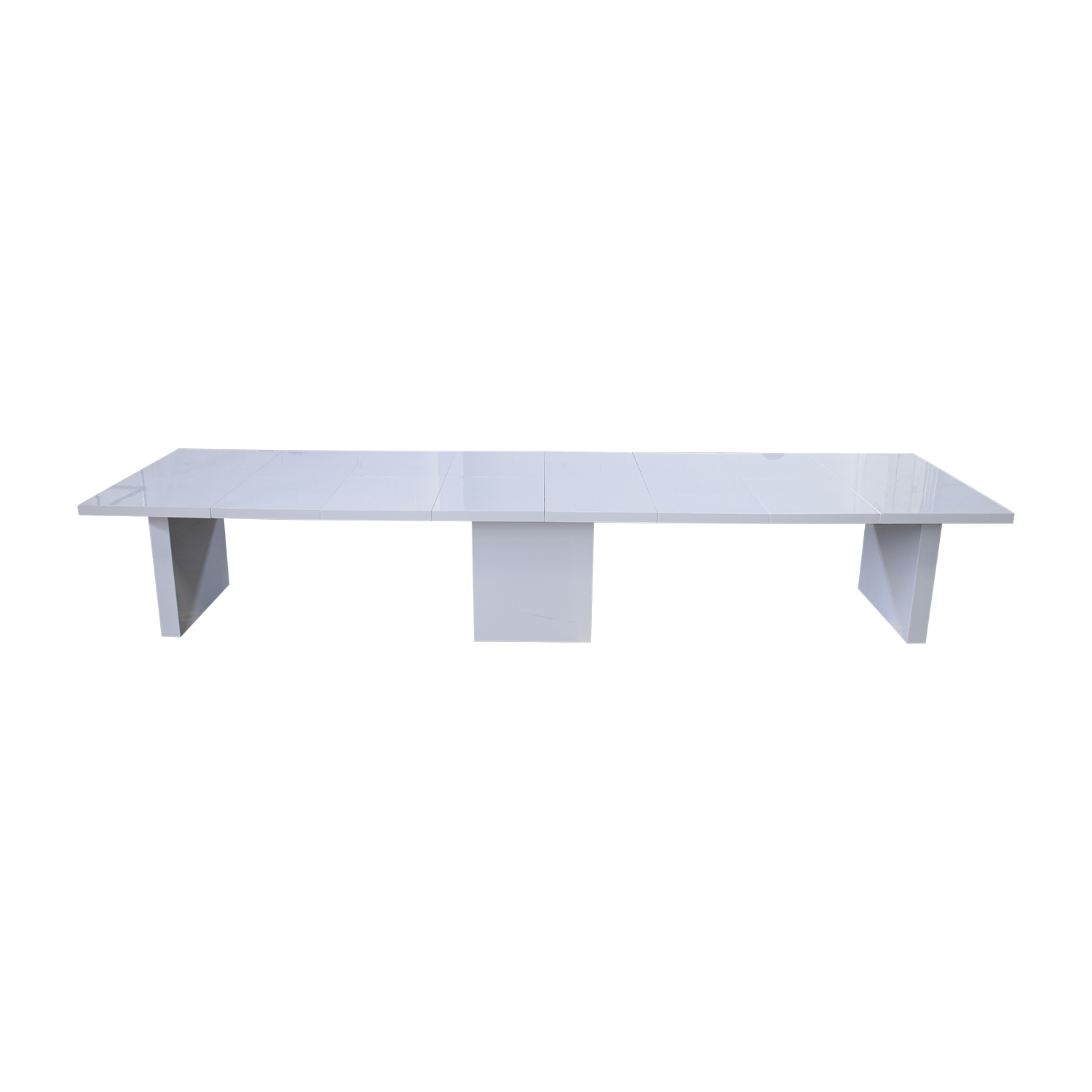 Orren Ellis Orren Ellis Stotfold White Extendable Table second hand