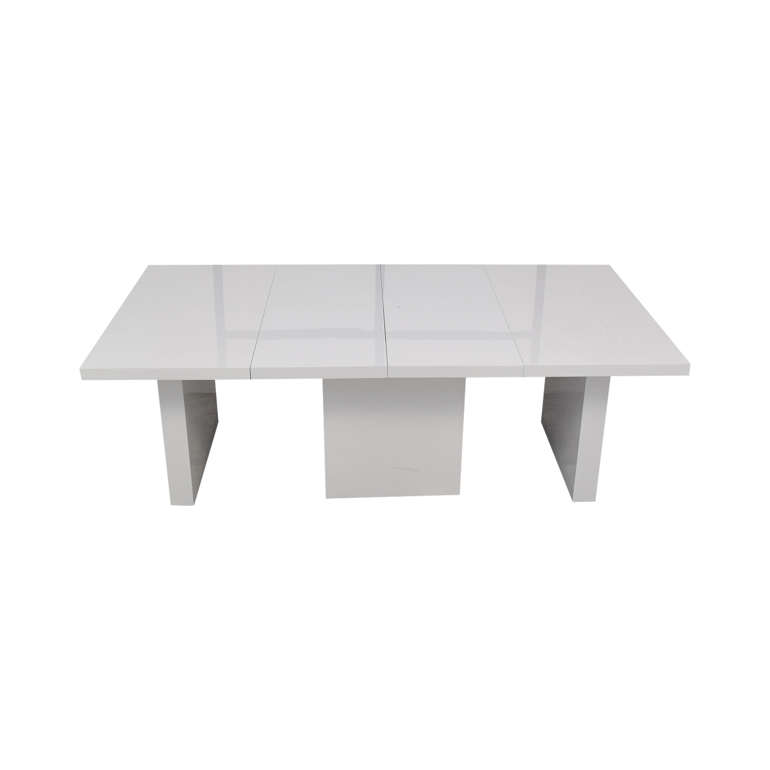 Orren Ellis Orren Ellis Stotfold White Extendable Table coupon
