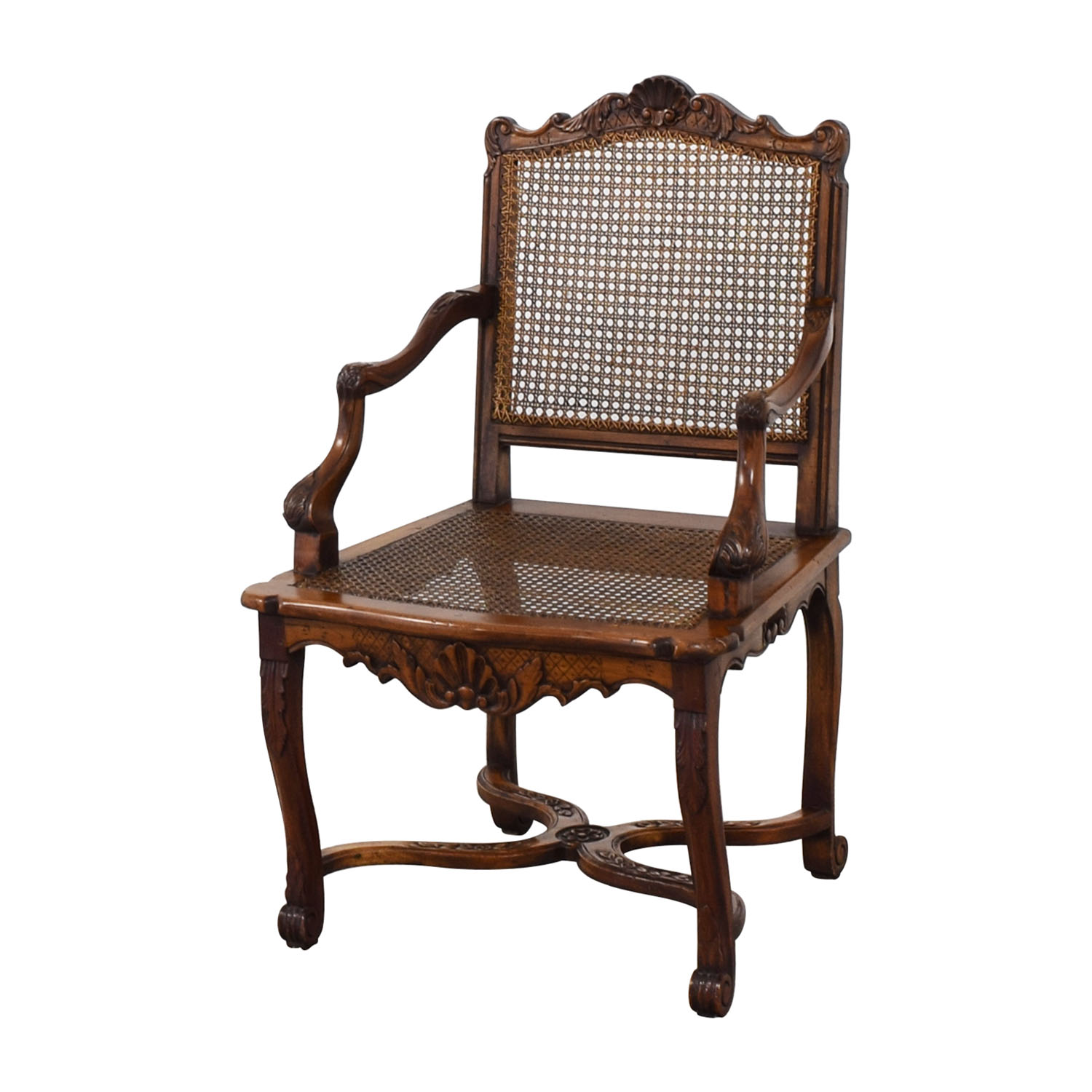 86% OFF - Decorative Carved Armchair / Chairs