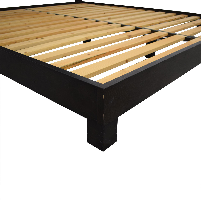 shop West Elm Inlay King Bed West Elm Bed Frames