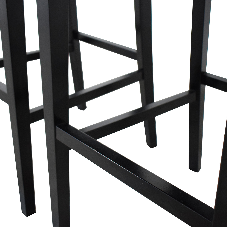 Crate & Barrel Lowe Leather Bar Stools / Stools