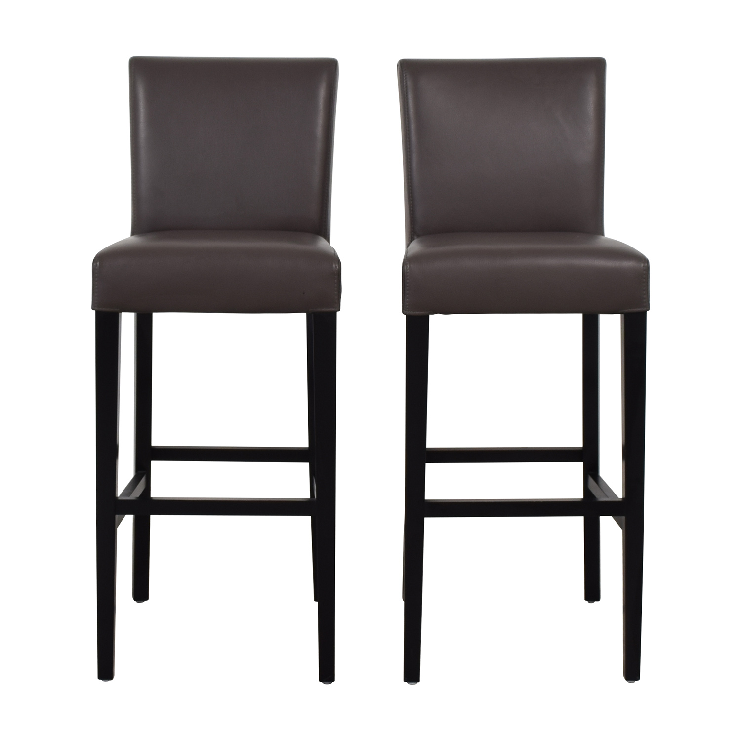 buy Crate & Barrel Lowe Leather Bar Stools Crate & Barrel Chairs