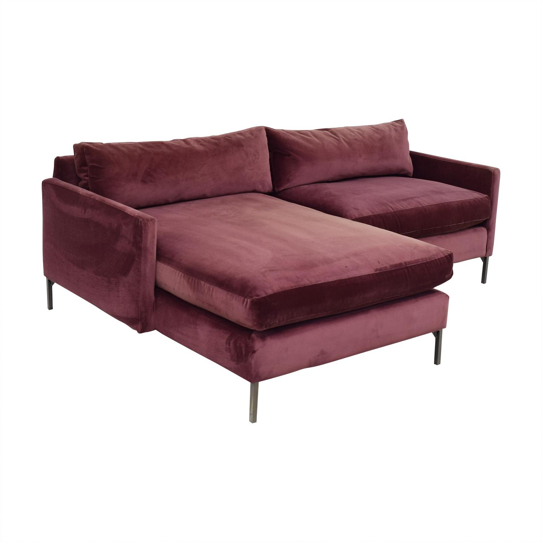 buy ABC Carpet & Home ABC Carpet & Home Cobble Hill Velvet Two Piece Sectional Sofa online
