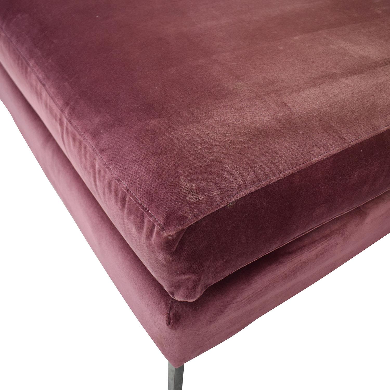 shop ABC Carpet & Home ABC Carpet & Home Cobble Hill Velvet Two Piece Sectional Sofa online