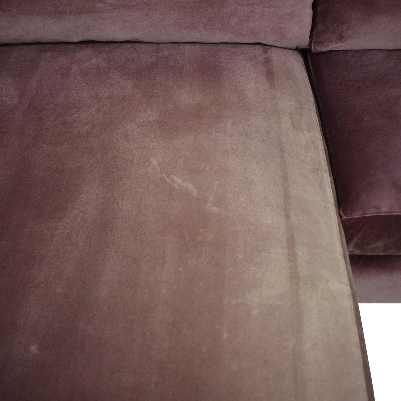 ABC Carpet & Home ABC Carpet & Home Cobble Hill Velvet Two Piece Sectional Sofa second hand