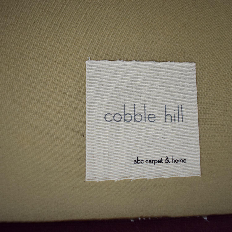 ABC Carpet & Home Cobble Hill Velvet Two Piece Sectional Sofa sale