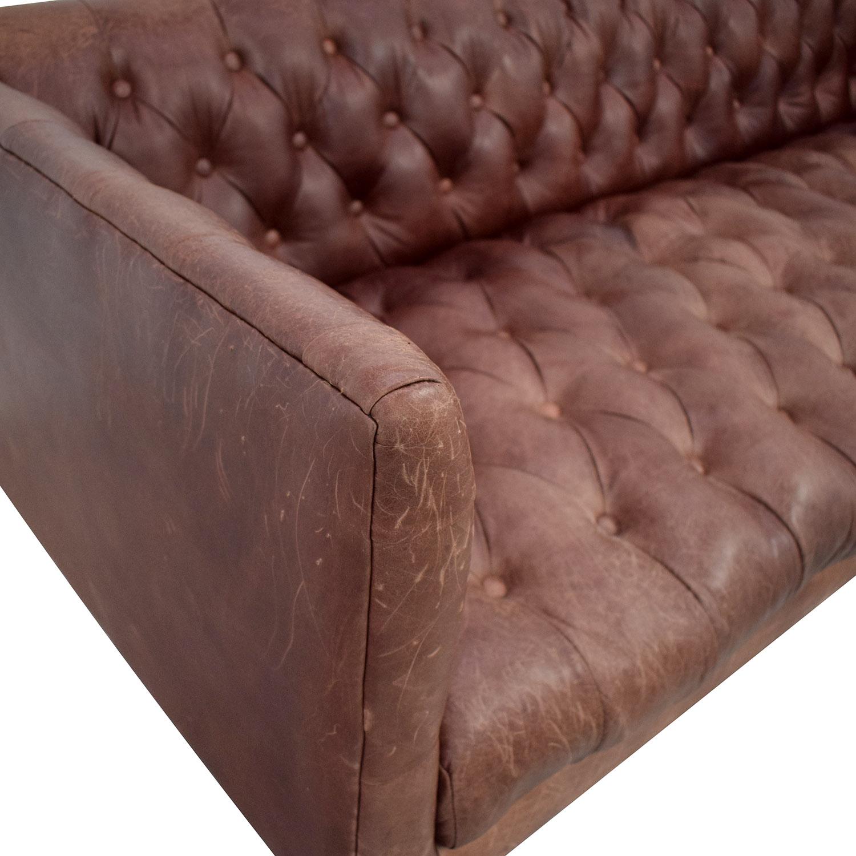 West Elm Modern Chesterfield Sofa sale