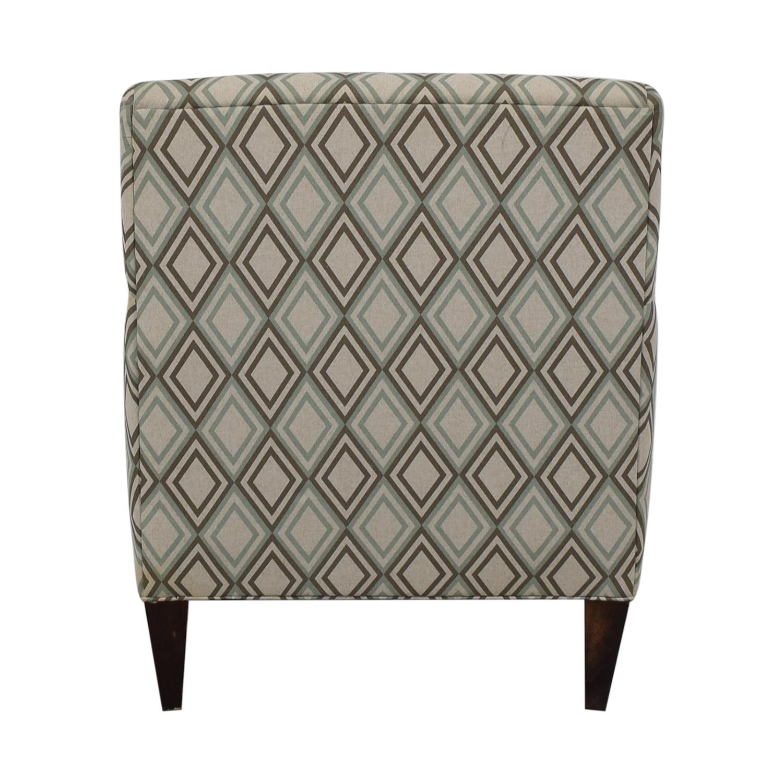 Rowe Furniture Patterned Geometric Armchair Rowe Furniture