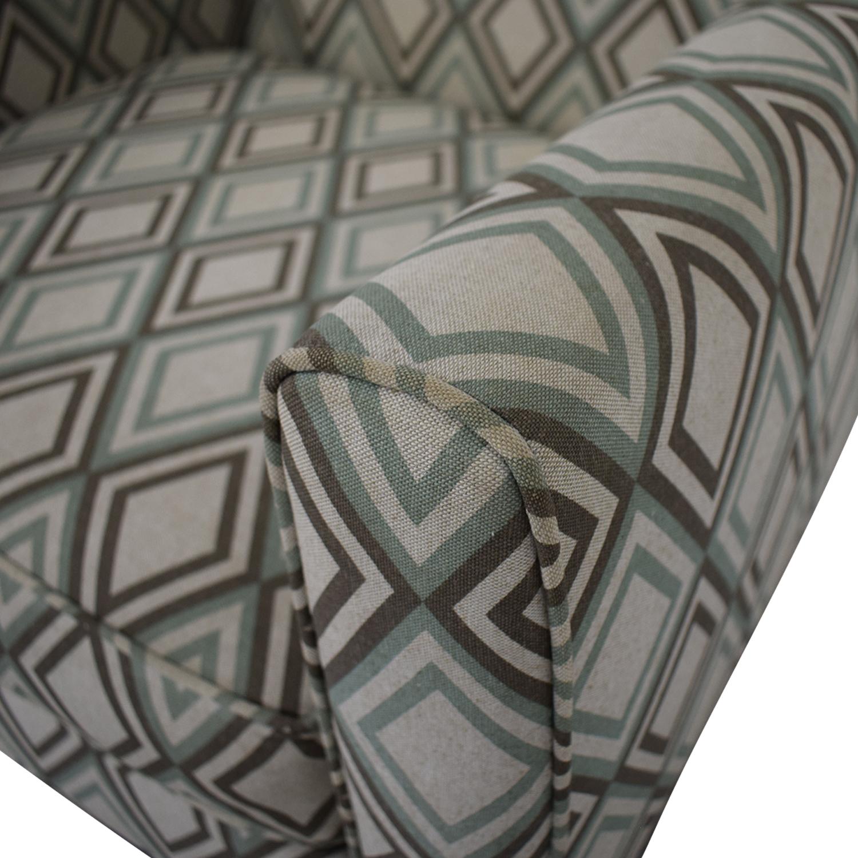 Rowe Furniture Rowe Furniture Patterned Geometric Armchair dimensions