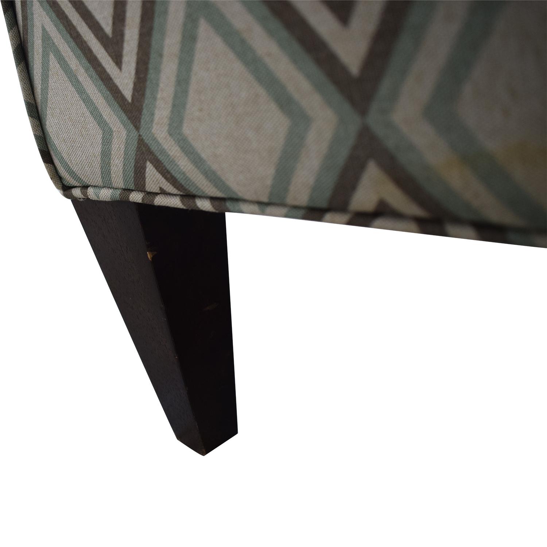 Rowe Furniture Rowe Furniture Patterned Geometric Armchair used