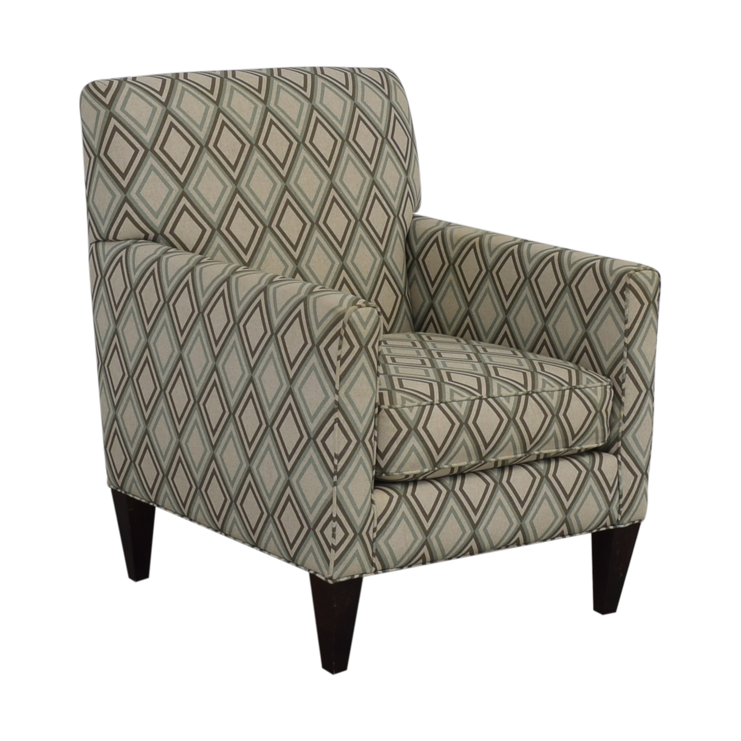 shop Rowe Furniture Patterned Geometric Armchair Rowe Furniture Accent Chairs