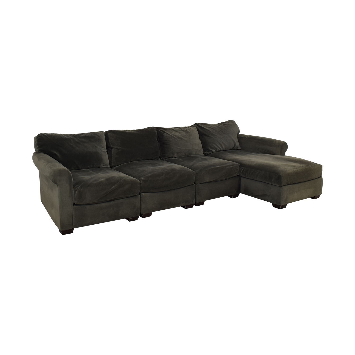 Macy's Macy's Chaise Sectional Sofa dimensions