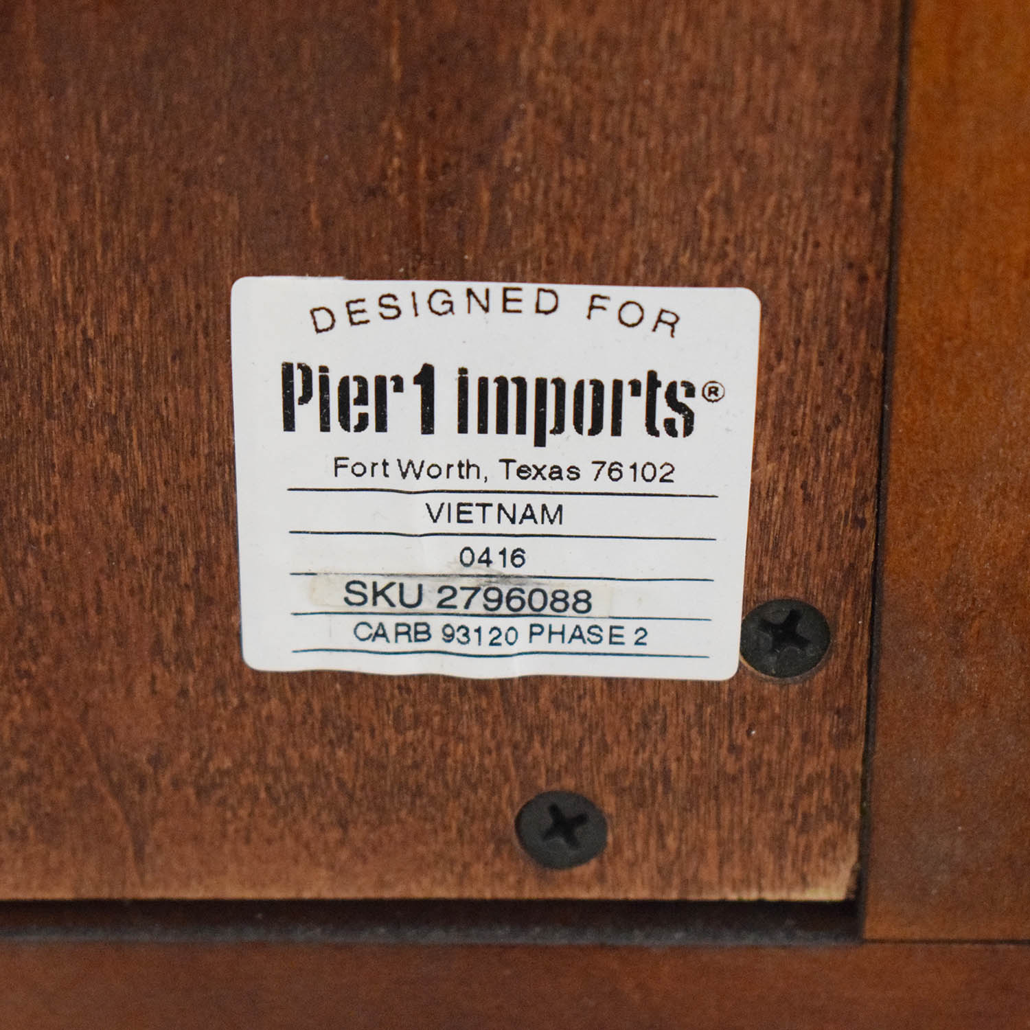 Pier 1 Ashworth Collection Chifforobe Pier 1