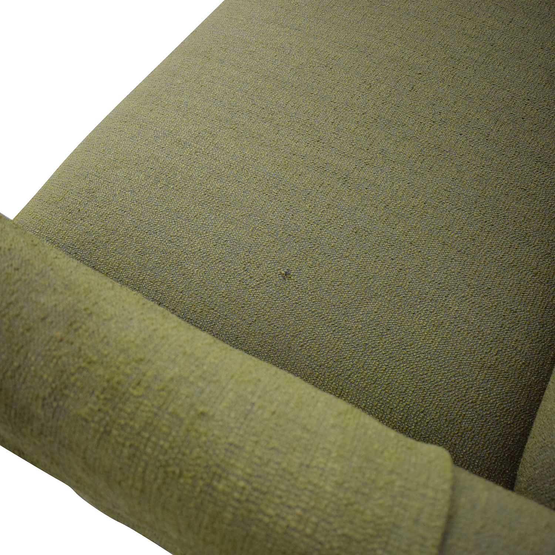 Crate & Barrel Crate & Barrel Margot II Grande Tight Back Sofa green