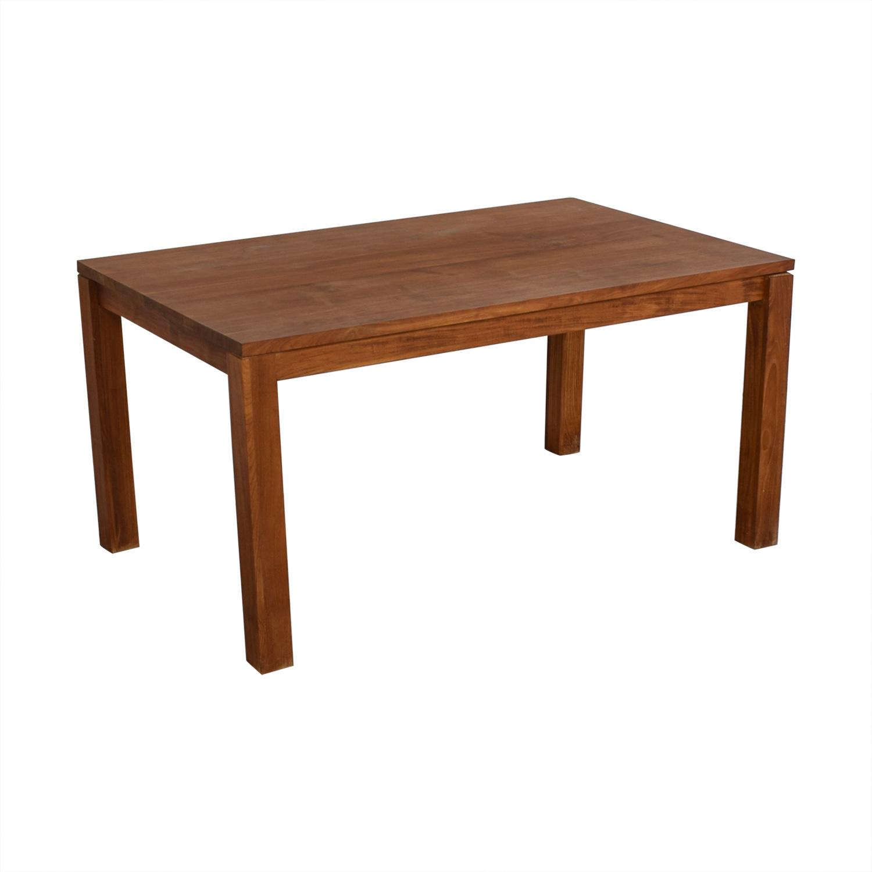 buy Crate & Barrel Rectangular Dining Table Crate & Barrel Dinner Tables