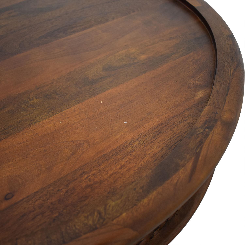 West Elm West Elm Carved Wood Coffee Table nj