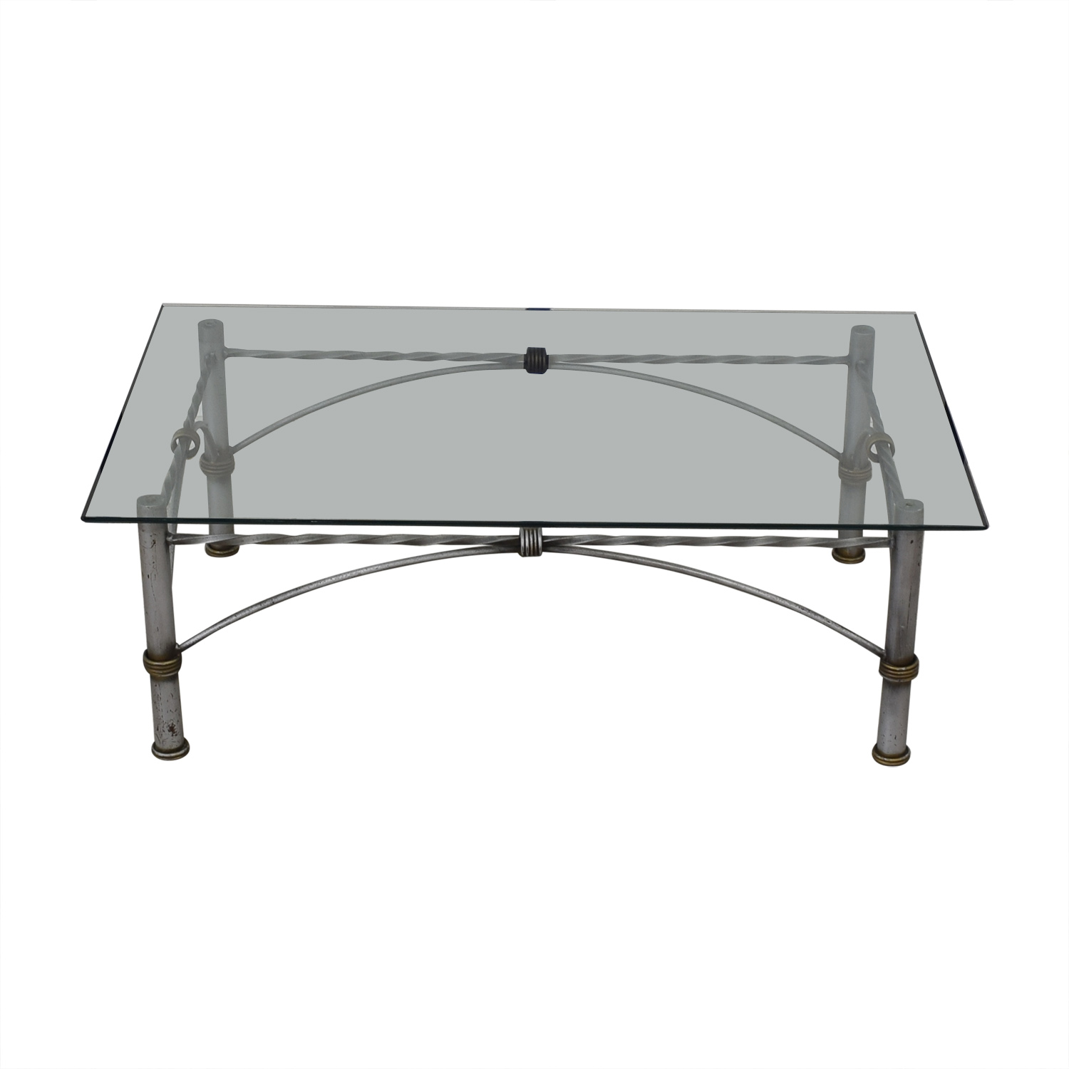 Restoration Hardware Restoration Hardware Glass Coffee Table price