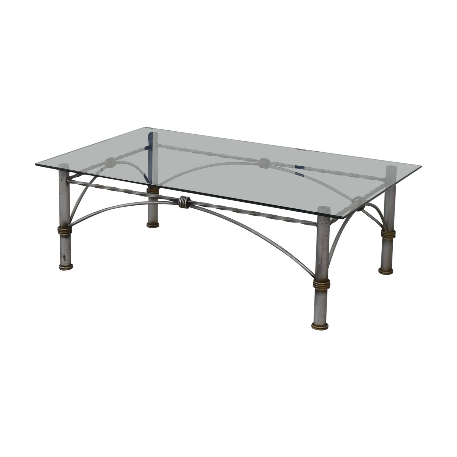 Restoration Hardware Restoration Hardware Glass Coffee Table for sale