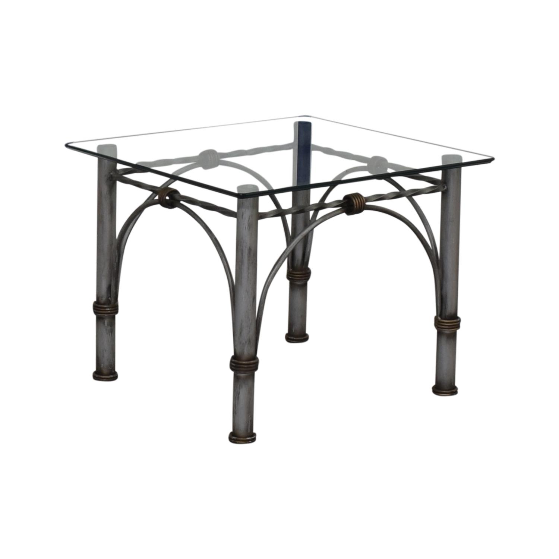 shop Restoration Hardware Glass End Table Restoration Hardware Tables