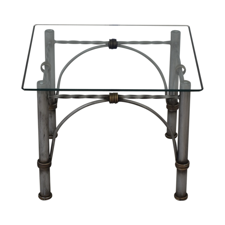 buy Restoration Hardware Glass End Table Restoration Hardware End Tables