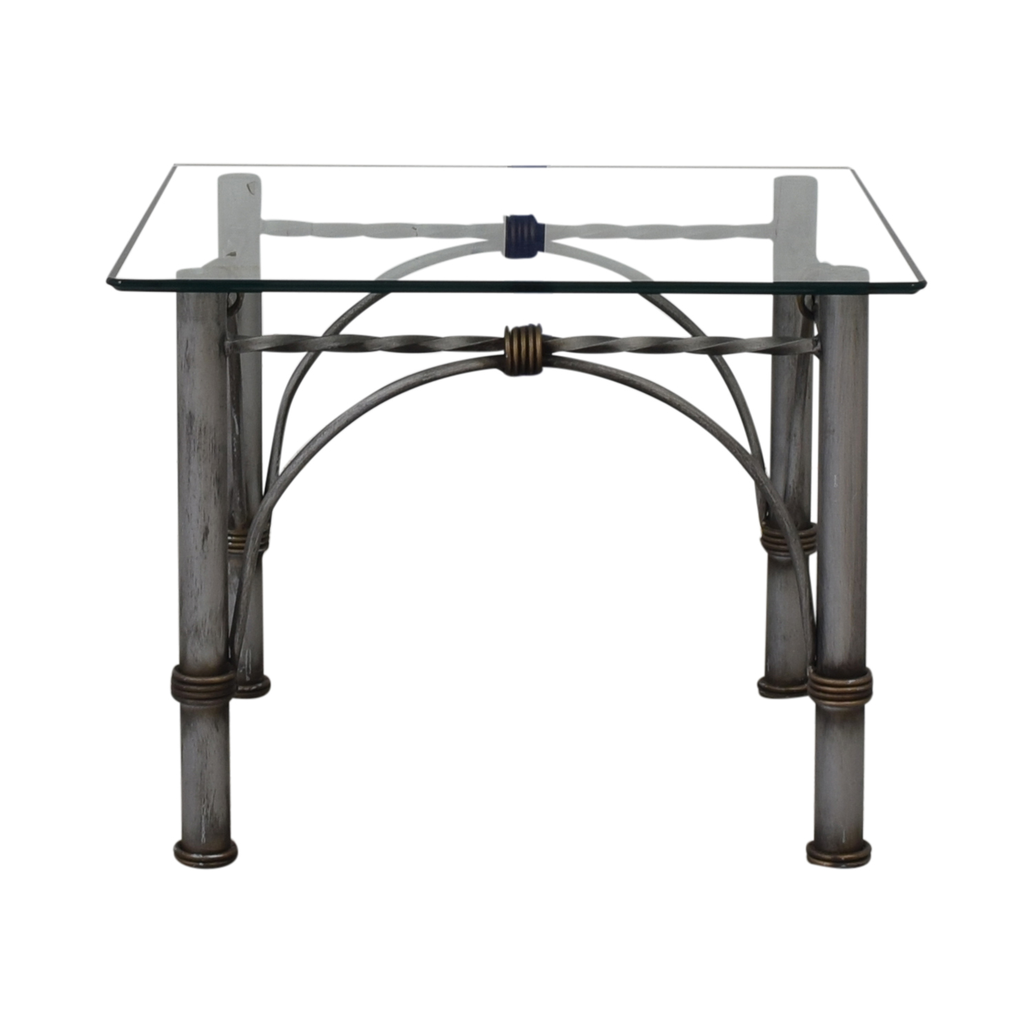 Restoration Hardware Restoration Hardware Glass End Table discount