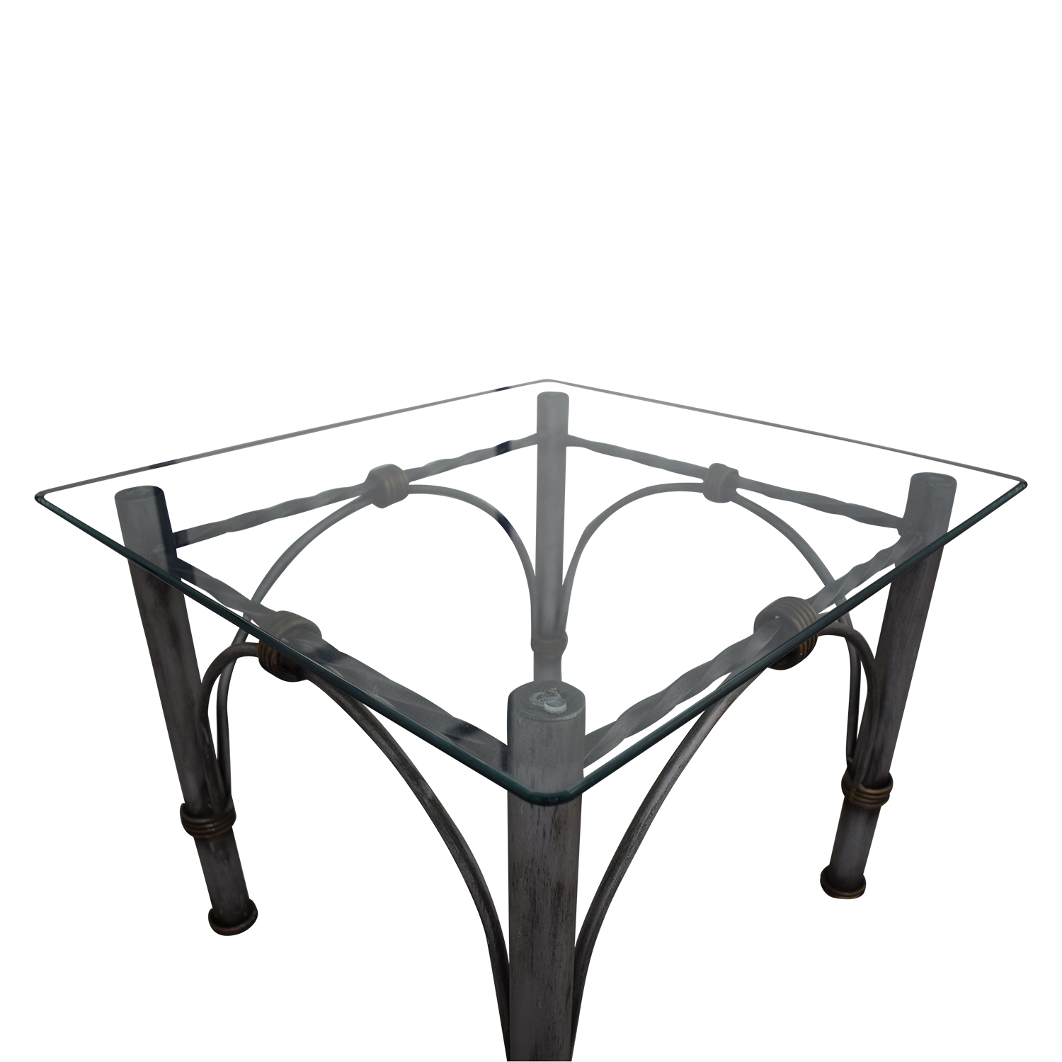 Restoration Hardware Restoration Hardware Glass End Table nyc