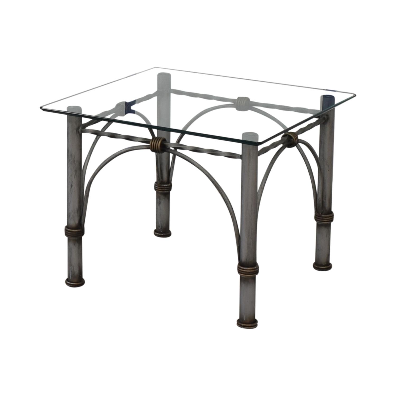 Beau 69% OFF   Restoration Hardware Restoration Hardware Glass End Table / Tables