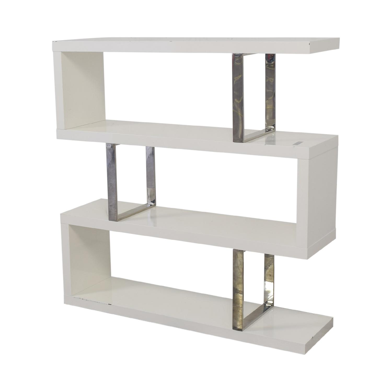 Modani Modani Eden Mid Century Modern Shelf white