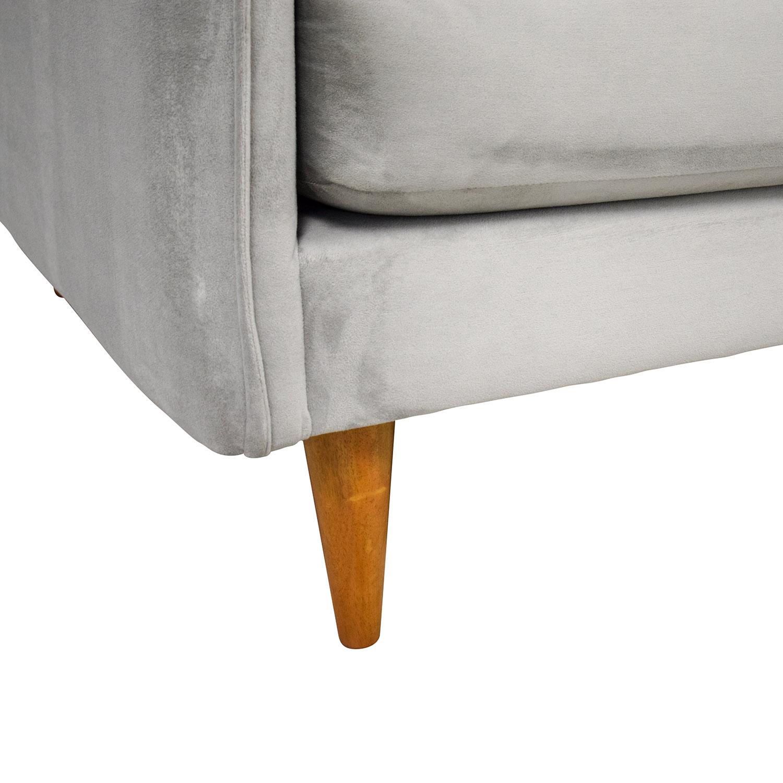 shop West Elm Mid Century Chaise Sectional Sofa West Elm Sofas
