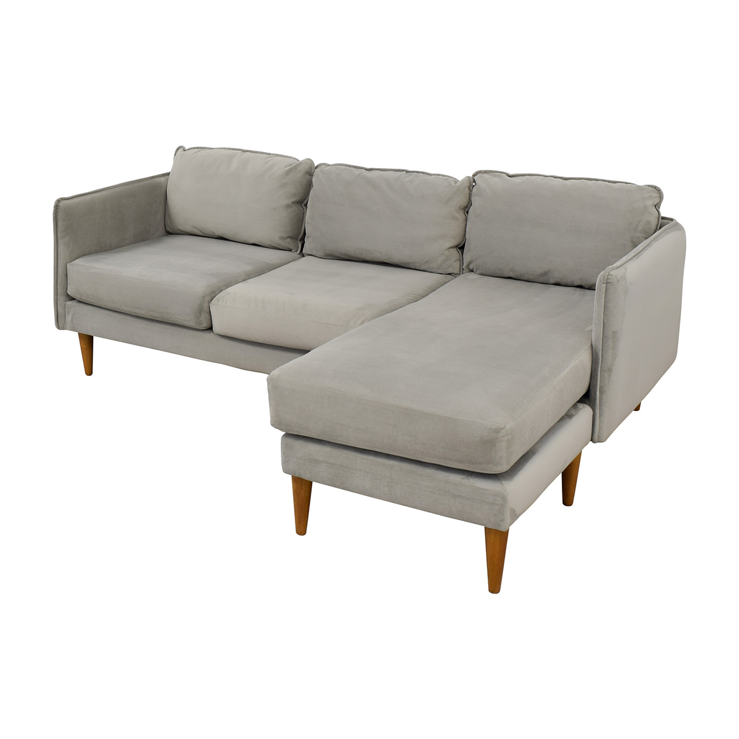 West Elm West Elm Mid Century Chaise Sectional Sofa nyc