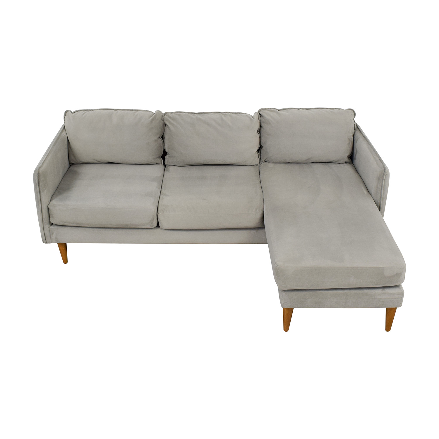58% OFF - West Elm West Elm Mid Century Chaise Sectional Sofa / Sofas
