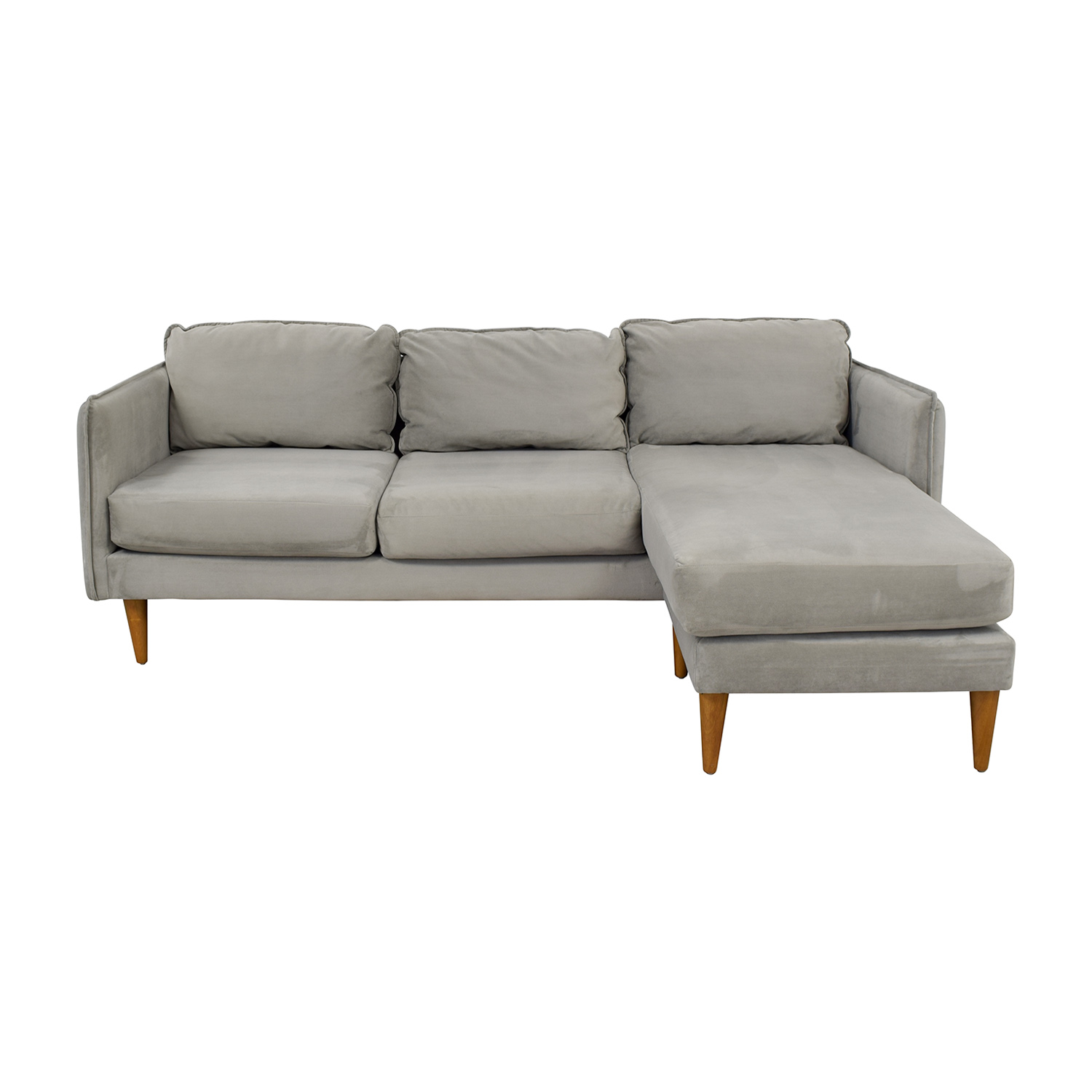47% OFF - West Elm West Elm Mid Century Chaise Sectional Sofa / Sofas