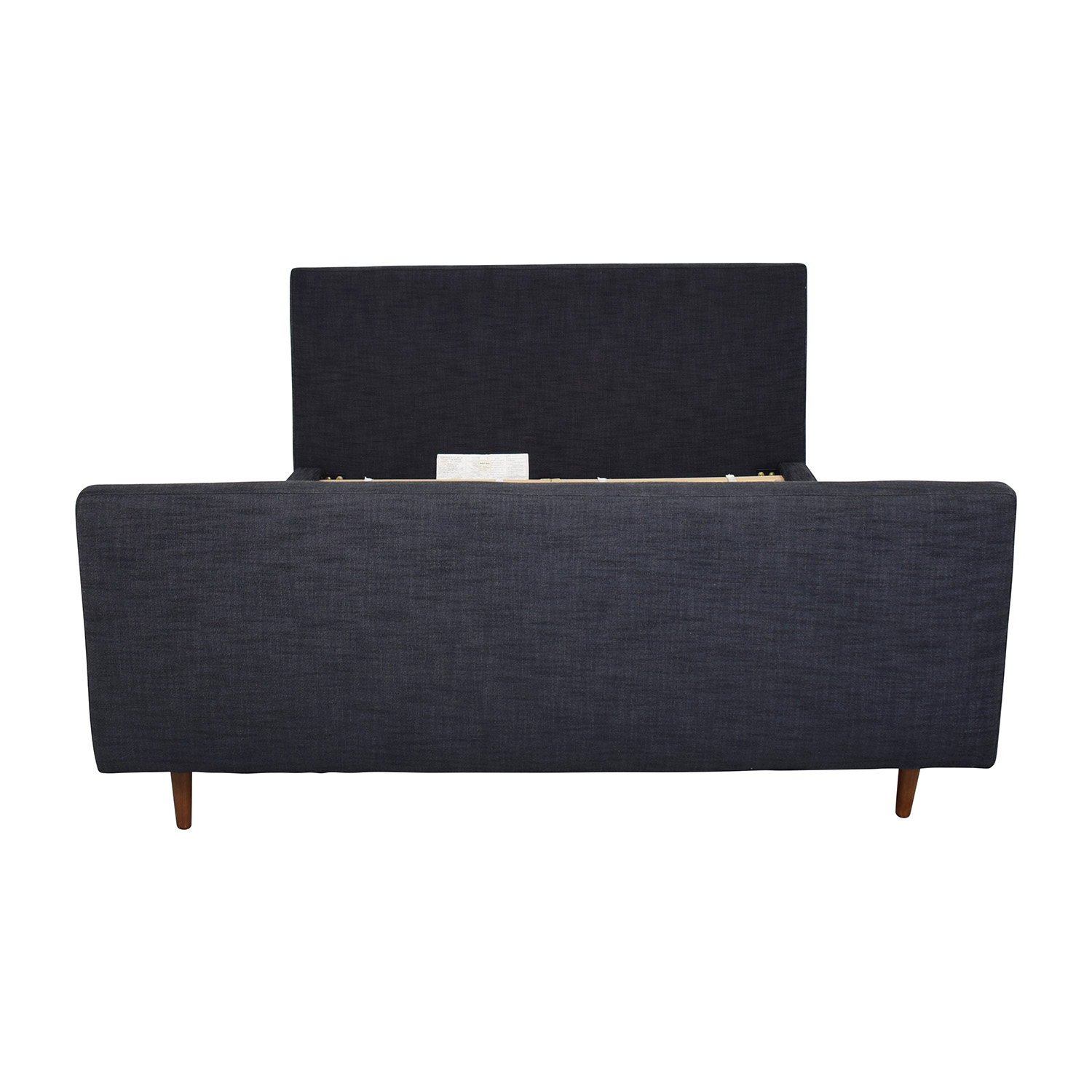 West Elm Queen Upholstered Bed with Footboard / Beds