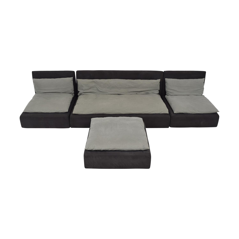 E15 E15 Shiraz Modular Sofa and Ottoman Sofas