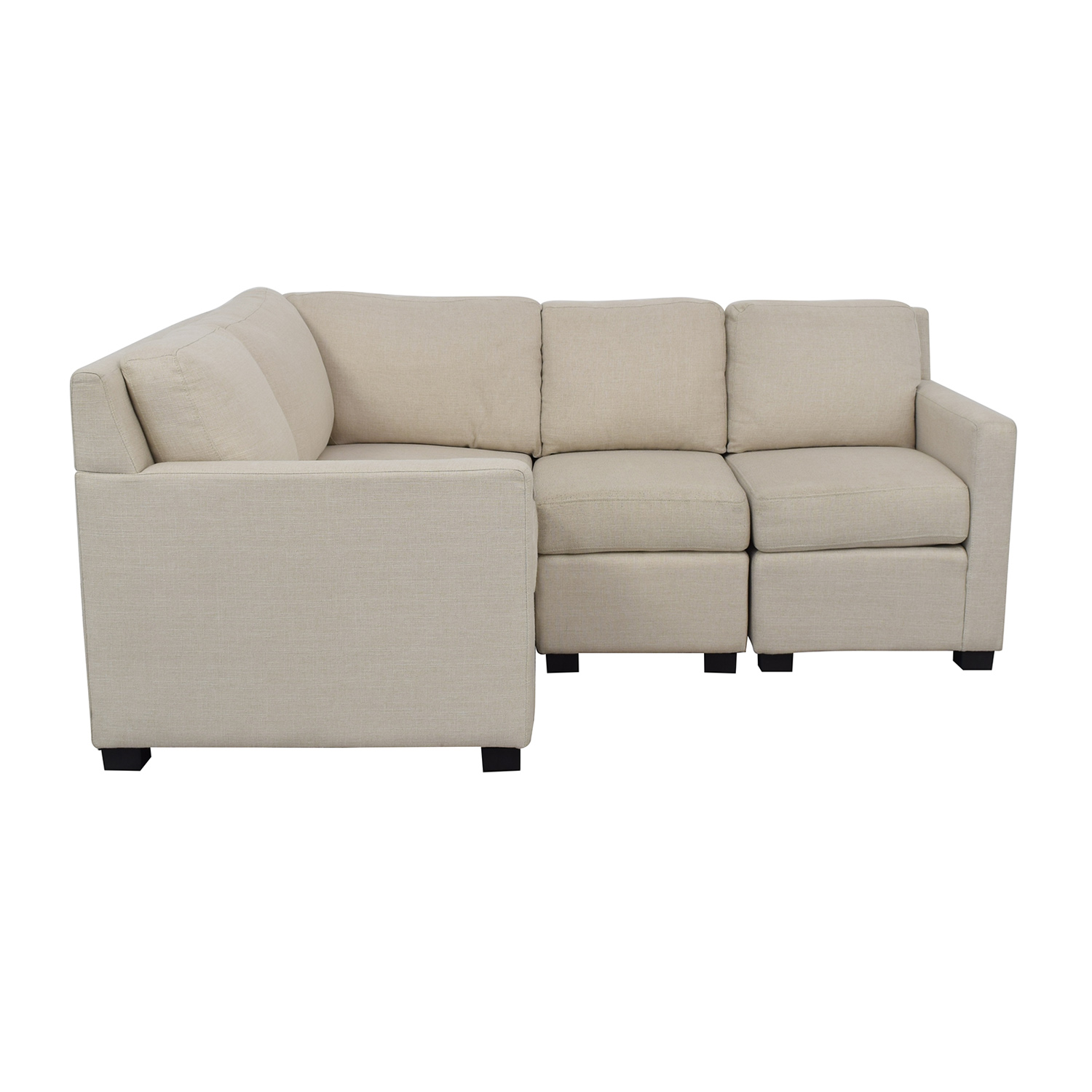 Pottery Barn Pottery Barn Studio Harrison Sectional Sofa dimensions