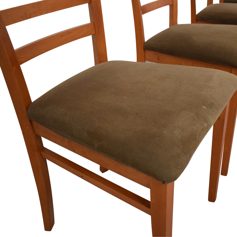 SA A. Sibau SA A Sibau Ladder Back Dining Side Chairs discount