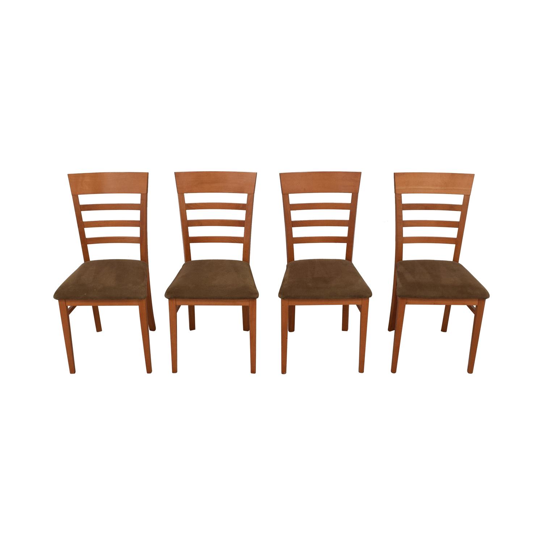 SA A. Sibau SA A Sibau Ladder Back Dining Side Chairs nyc