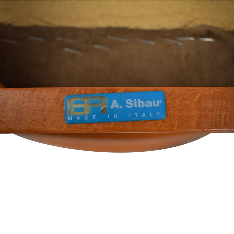 SA A. Sibau SA A Sibau Ladder Back Dining Side Chairs dimensions