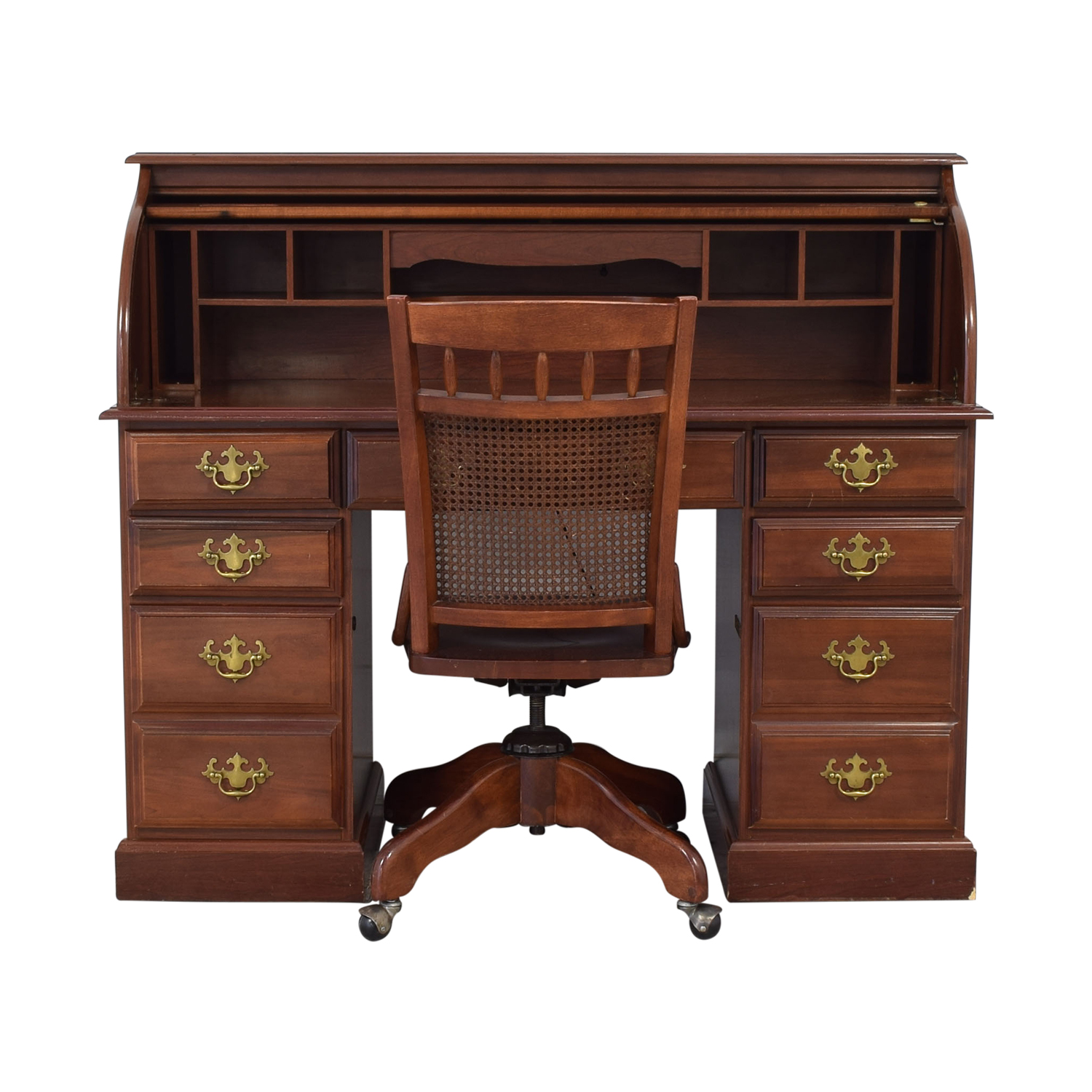 Roll Top Desk with Chair second hand