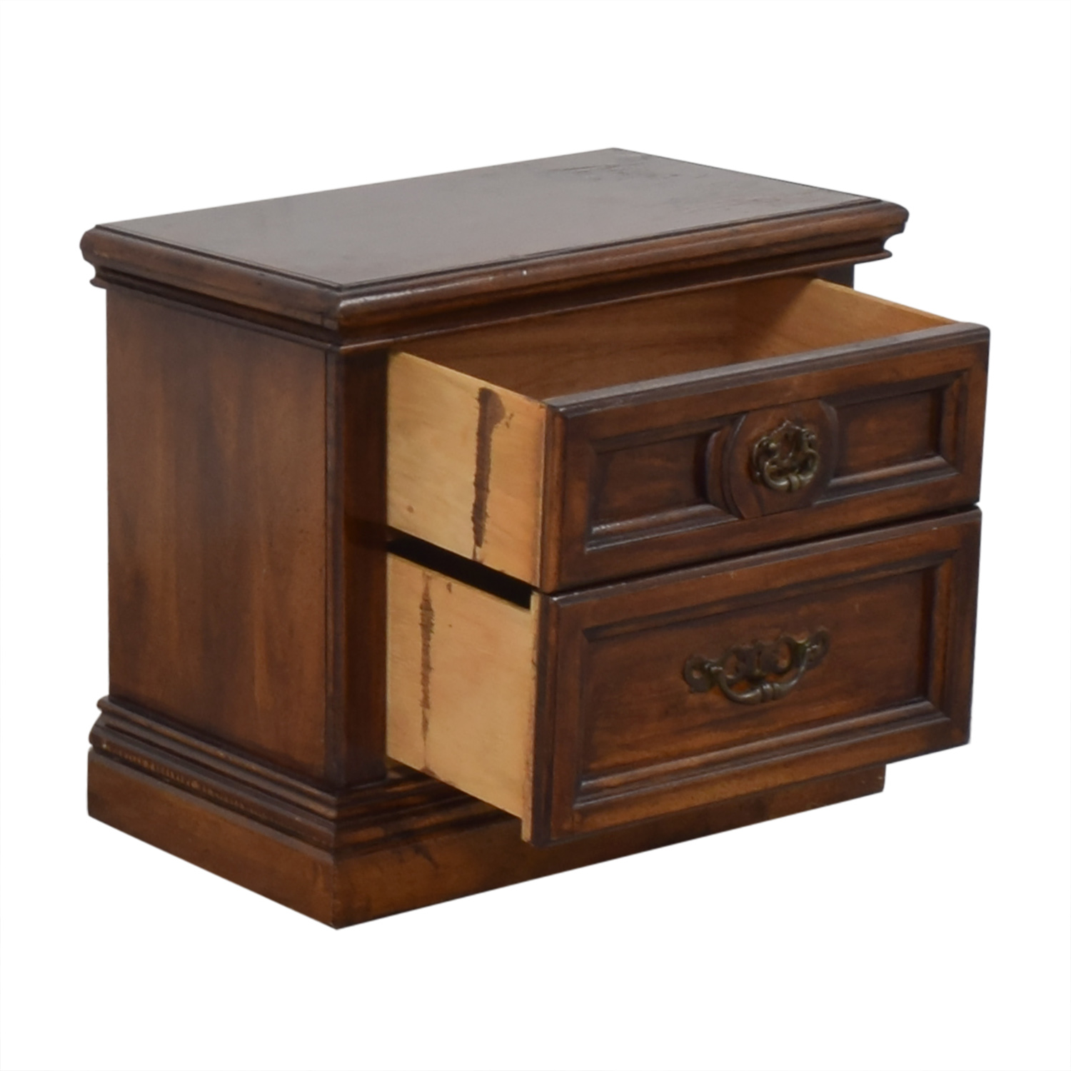 Two Drawer Nightstand Storage
