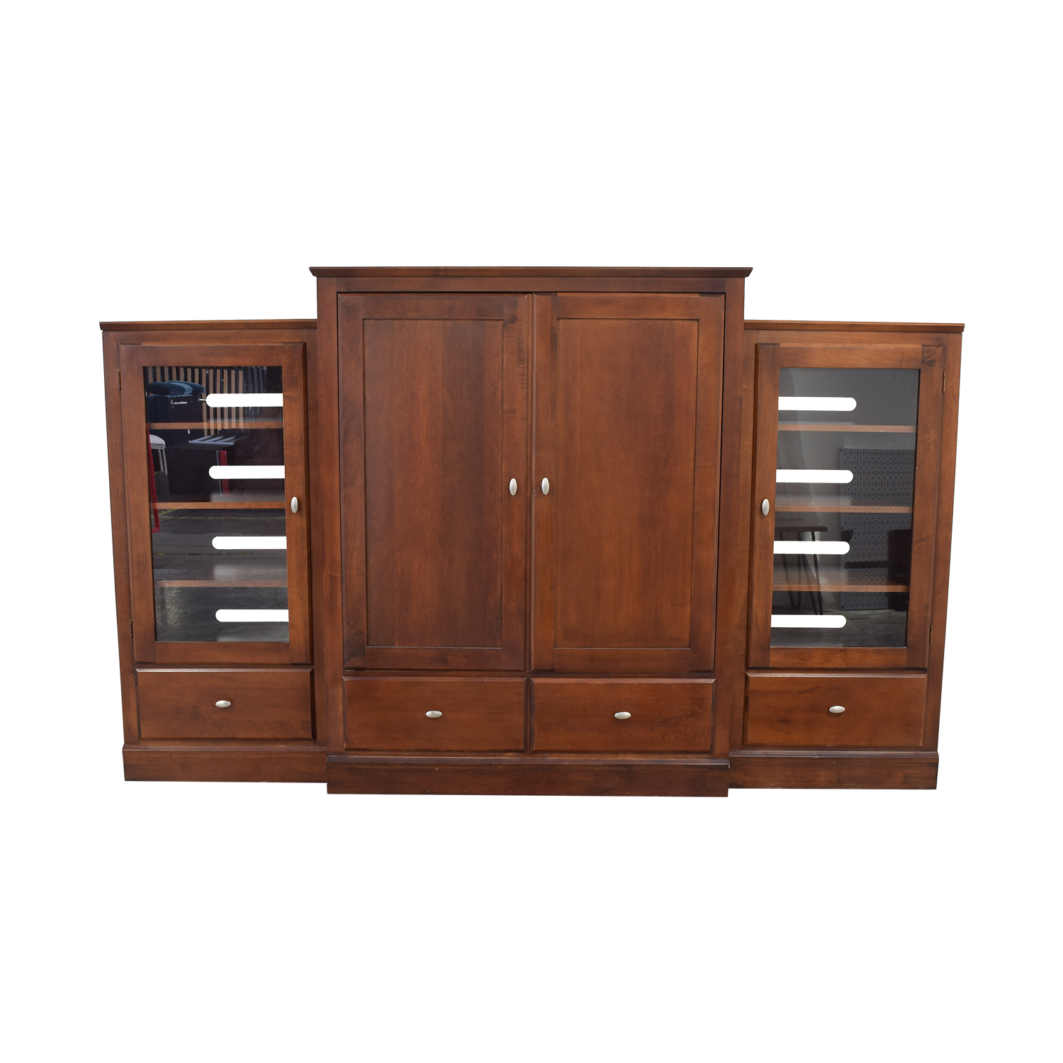 Ethan Allen Modular Bookcase Media Unit / Media Units