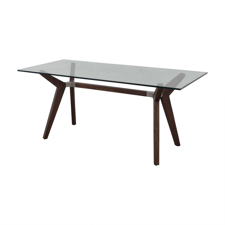 buy Crate & Barrel Crate & Barrel Strut Glass Top Table online